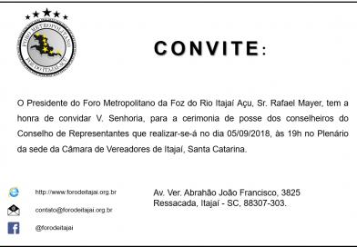 Evento: posse dos novos conselheiros do Conselho de Representantes